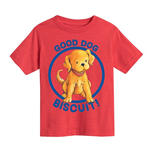 (Instant Message Biscuit The Little Yellow Puppy Good Dog-Toddler Short Sleeve TEE-2T)