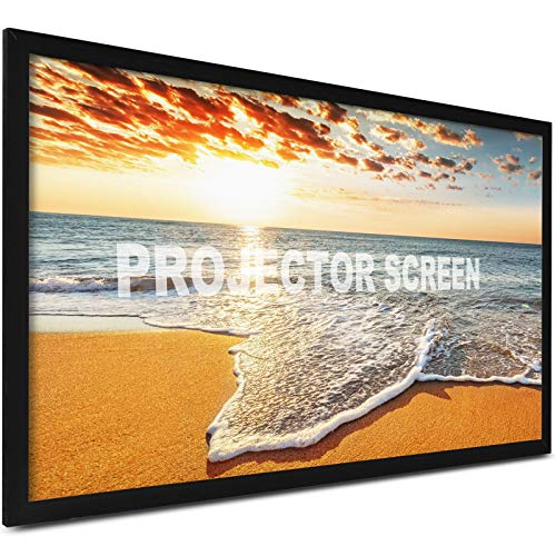 VEVOR Projection Screen 92inch 16:9 Movie Screen Fixed Frame 3D Projector Screen for 4K HDTV Movie Theater ()