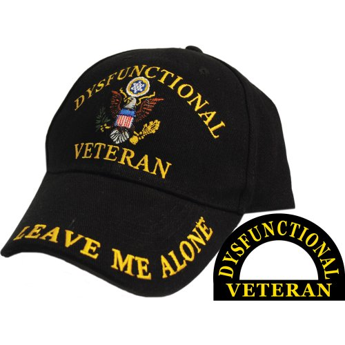 Dysfunctional Veteran Direct Embroidered Hat - Black - Veteran Owned Business