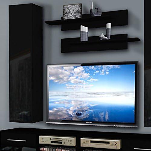 Paris Prix Mueble TV pared invento IV Twin 240 cm negro: Amazon.es: Hogar
