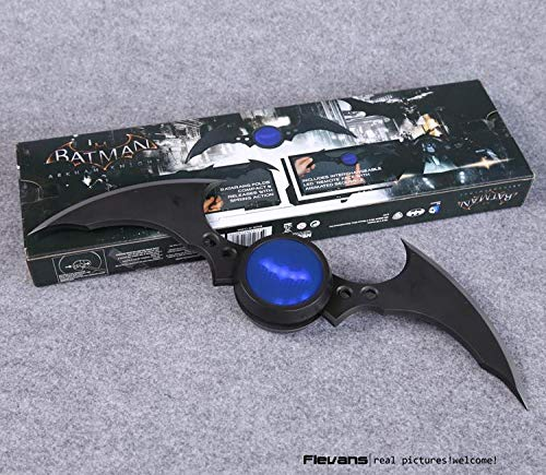 VIET FG NECA DC Comics Batman Arkham Knight Batarang Replica Action Figure with Light Collectible Model Toy- Gift for Your Kids