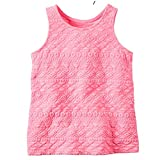 Carter's Little Girls' Geo Puff Printed Cotton Tank Top (4t, pink)