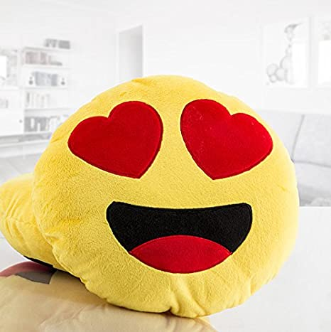 Emoticono EMOJI. Cojín de emoticono, que puede ser utilizado como alhohada. Fantástico peluche cojín de tus emoticonos favoritos. Original regalo para ...