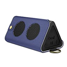 MoKo Carrying Case for OontZ Angle 3, Portable Bluetooth Speaker Cover PU Leather Protective Bag Sleeve Skins, with Holding Strap & Carabiner, INDIGO (Not fit OontZ Angle 3 Plus/ 3XL, OontZ XL/ Angle)