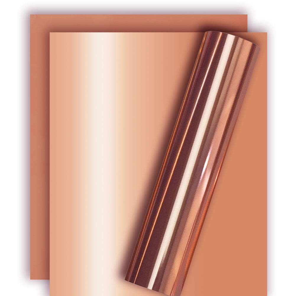 Rose Gold Metallic Foil HTV Heat Transfer Vinyl for Tshirt and Apparel 12 X 10 Pack of 3