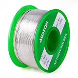 Austor 0.6mm Lead Free Solder Wire with Rosin Core, Sn 99% Ag 0.3% Cu 0.7%, 100g