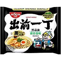 出前一丁高品质即食方便面黑蒜油猪骨汤味100g*6(香港)