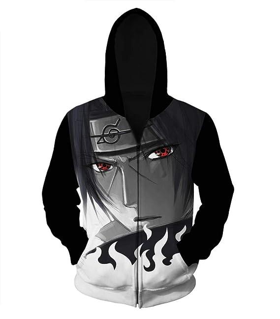 NIEWEI-YI Naruto Zipper Sudadera con Estampado Anime 3D Sudadera con Capucha con Capucha Sudaderas: Amazon.es: Ropa y accesorios