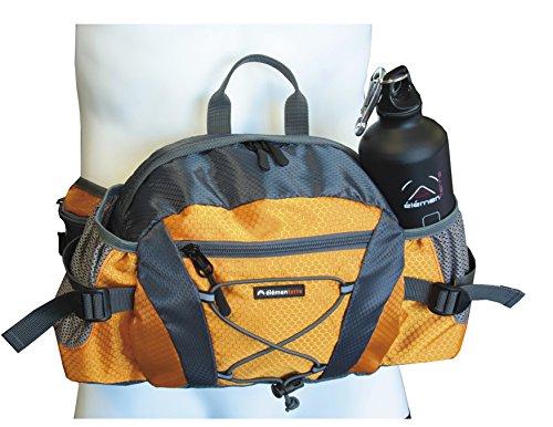 Elementerre Advent–Rucksack für Taille mit vielen Taschen und Platz für Kanister, grau/orange, Einheitsgröße