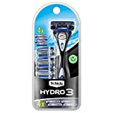 Schick Hydro 3 Razor for Men Value Pack with 4