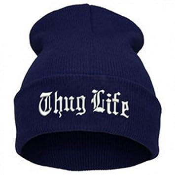 ... para Hombre Thug Life Sombreros De Punto Hombre Mujer Invierno Skullies Y Gorros Mujeres Sombreros Casuales Gorras: Amazon.es: Deportes y aire libre