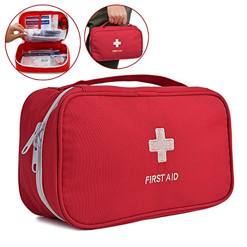 Fansport First Aid Bag, Medical Bag Empty Portable Pouch for Outdoor Home