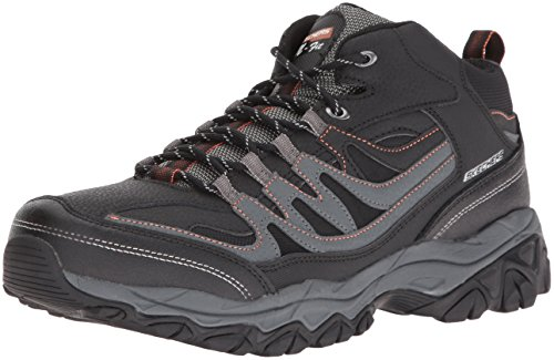 (Skechers Sport Men's Afterburn M. Fit Mid Oxford,Black/Charcoal,10.5 M US)