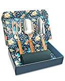 Sunphio Gardening Tools Set with Heavy Duty Garden Hand Trowel, Spade Shovel and Fork Kit, Forged Stainless Steel and Never Fall-Off Wood Handle, 1 Indoor Work Mat, 1 Beautiful Gift Box for Women Men