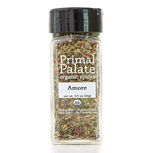 Certified Organic Spice (Primal Palate Organic Spices Amore Seasoning, Certified Organic, 0.9 oz Bottle)