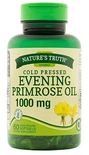 Nature's Truth Cold Pressed Evening Primrose Oil 1000 mg Capsules, 60 Count ()