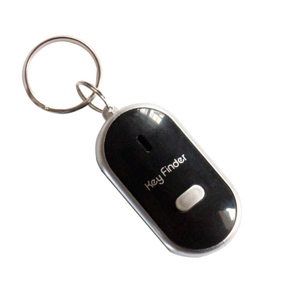 fgyhtyjuu Beeping Flashing Light Key Finder Find Lost keychain Whistle Sound Control Keyring Gift