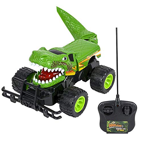 ArtCreativity 14 Inch Remote Control Dinosaur Monster Truck Dino RC Toy Car - Battery Operated - Unique Birthday for Boys, Girls, Toddler - Large Carnival Game Prize (Best Remote Control Monster Truck)