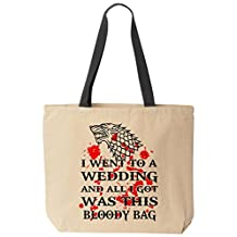 Game of Thrones Wedding Tote - Dire Wolf Bloody Canvas Bag by BeeGeeTees®