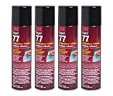 QTY4 3M SUPER 77 7.3oz LARGE SPRAY GLUE ADHESIVE for SPEAKER BOX ENCLOSURE