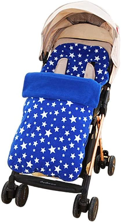 Saco de dormir para bebé, funda universal para los pies del cochecito, impermeable, resistente al viento, protección contra el frío, anexo azul azul