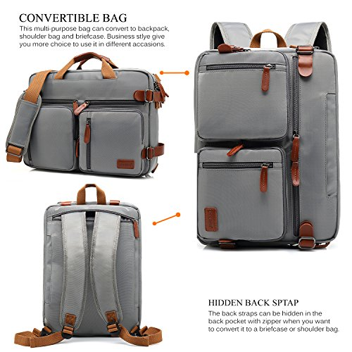 e073ba38cf ... Book Bag School Bag Shoulder bag Laptop Case Handbag 15.6 Inches  Business Briefcase Multi-functional Travel Rucksack For Men Women(Grey).  15.6inch-Grey