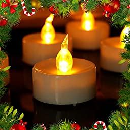 Micandle 24pcs Timing Function-6 Hours on and 18 Hours Off-flicker Flameless Led Candles, Flashing Frosted Led Tealight, Battery Operated Candles-tea Light Candles with Timer for Christmas Wedding