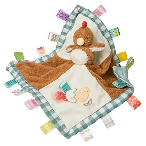 Fabric Barnyard - Taggies Barnyard Friends Soothing Sensory Stuffed Animal Security Blanket, Chikki Chicken, 13 x 13-Inches