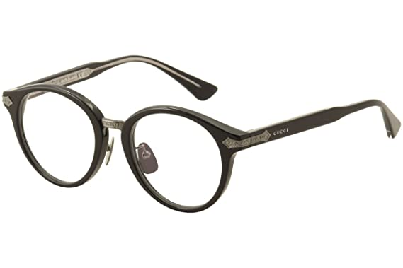 f84725a21a Amazon.com  Gucci Men s Eyeglasses GG0066O GG 0066O 001 Black Full ...