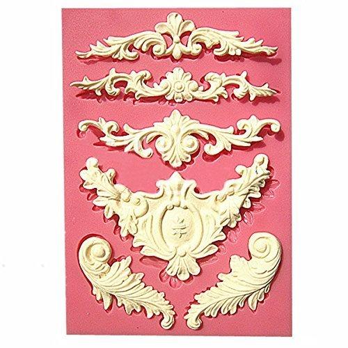 Romote silicone Sculptée fleur dentelle moule bonbons Jello moule Gâteau 3D