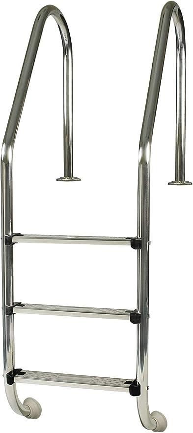 Gre 40110 - Escalera Standard de Acero Inoxidable para Piscina Enterrada, 154 cm: Amazon.es: Jardín