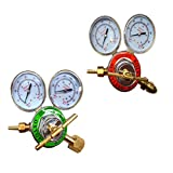 2 Piece Set PSI KING Oxygen & Acetylene Regulator Set Large