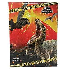 Jurassic World Diario/Agenda Scuola Datato 2020-2021 Copertina Imbottita Pagine in Lingua Italiana 12 spesavip