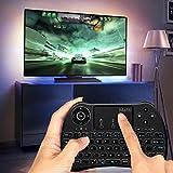 Mafiti H9+ Mini Keyboard, 2.4GHz Mini Wireless keyboard with Touchpad, LED Backlit, Rechargable Li-ion Battery for Smart TV,PC,Windows