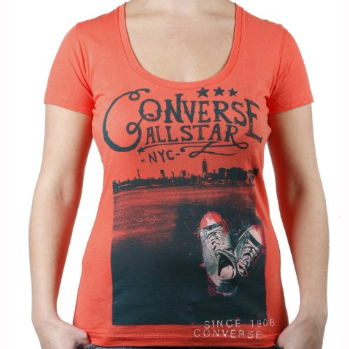 Converse chuck t-shirt femme on the rocks/couleur :  coral 01381–823 hot coral Large