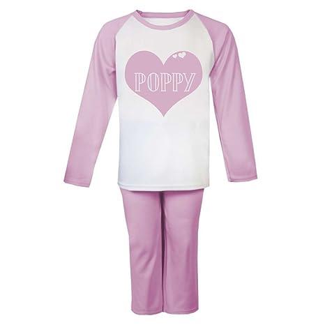 4b6f9bede Personalizable nombre en corazón pijama infantil pijama para niños niñas  personalizado Pjs Niñas Navidad regalos niños