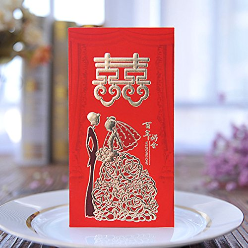 ZFKJERS Pack-30 Chinese Red Envelopes - Lucky Money Gift Envelopes Red Packet for Wedding (6.5 x 3.4 in) (Envelopes Wedding Chinese)