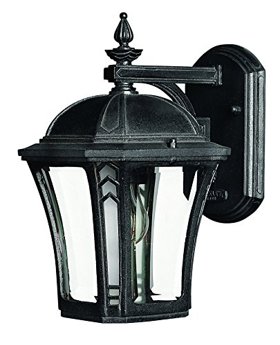 Price comparison product image Hinkley 1336MB Traditional One Light Wall Mount from Wabash collection in Blackfinish