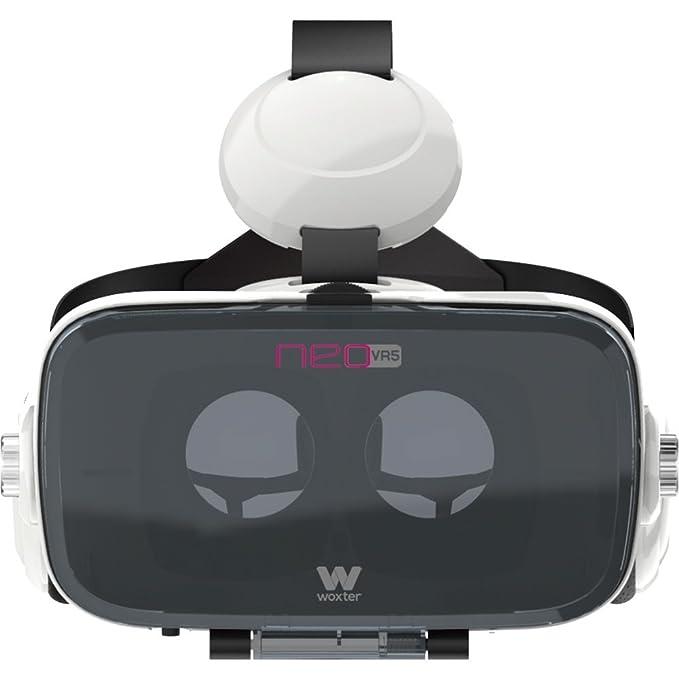 Woxter Neo VR5 - Gafas de Realidad Virtual 3D para Smartphone con Auriculares incorporados, Color Blanco: Amazon.es: Electrónica
