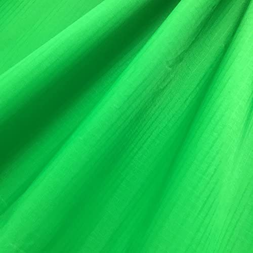 """emma kites Green Ripstop Nylon Fabric 60""""x108""""(WxL) 48g (Sq M) of Water Repellent Dustproof Airtight PU Coating - Excellent Fabric for Kites Inflatable Skydancer Flag Tarp Cover Tent Stuff Sack"""