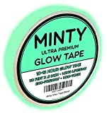 Minty Glow Tape - Premium Glow in the Dark Fluorescent Green Tape, 30-Foot Length, Extended 10-12 Hour Glow Time, Very Bright, Rechargeable Waterproof Sticker, Non-Toxic, Photoluminescent