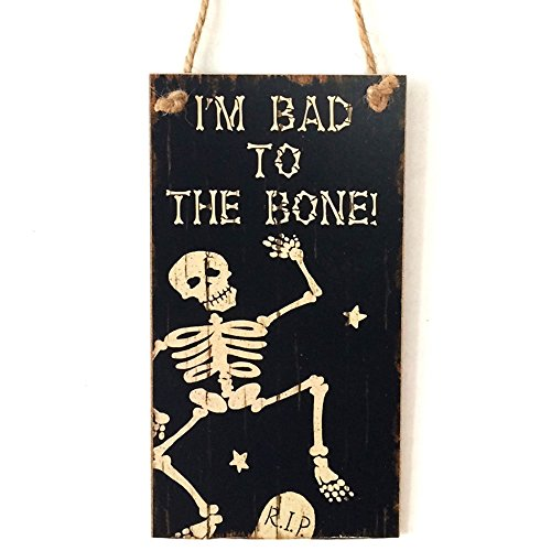 BigFamily Halloween Wooden Door Hanging Plaque Board Sign Home Art Party Decor Home Wall -