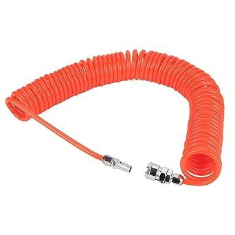 Akozon PU Flexible de Retroceso Manguera de Aire con Juntas 8mm * 5mm para Compresor de