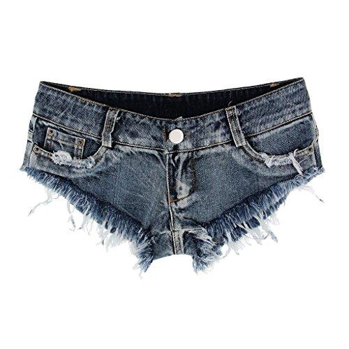 Jeans Pantaloni Blu Bassa per Ragazze Caldi Vita Donna Dolity Pantaloncini xqHXpcB