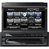 Clarion VZ401 7-Inch In-Dash Single-Din Touchscreen DVD/CD/MP3/USB Receiver with Bluetooth by Clarion