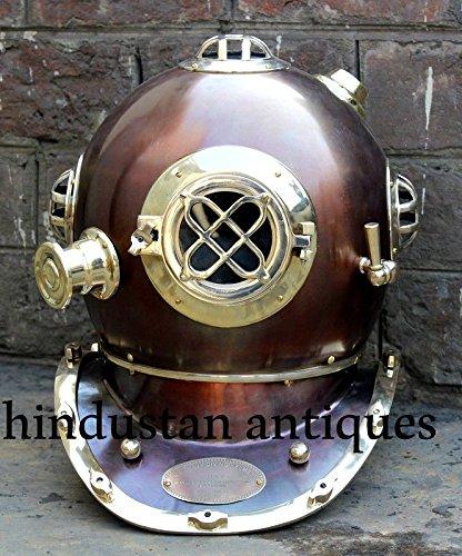 """UU Antiguo EE Navy Mark V Buceo Completo Acero casco para buzos 18/"""" Vintage Regalo Artículo"""