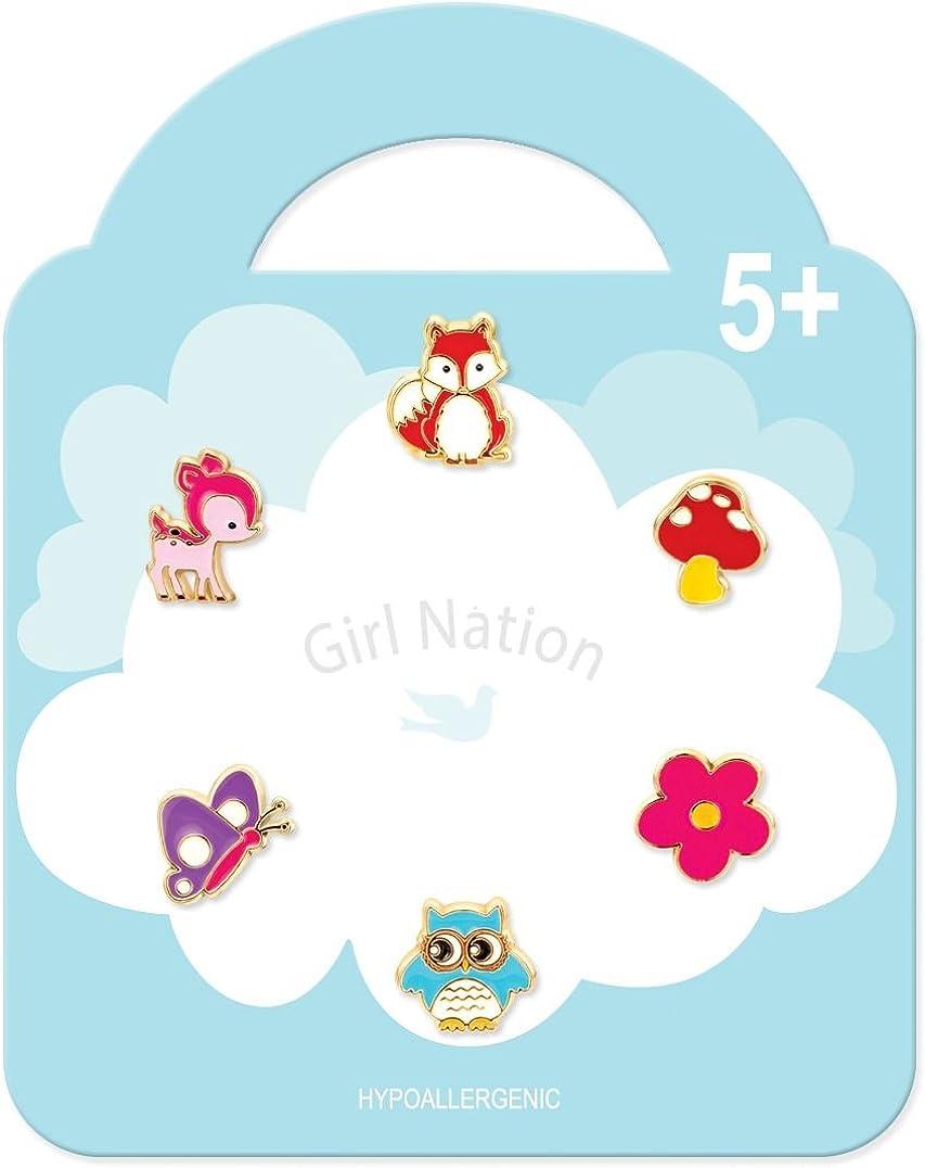Girl Nation Little Treasures Collection Enamel Flower Fantasy Group