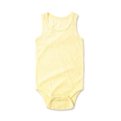 1PC Bebé Verano Bodysuits, 3-24 meses sin mangas recién nacido Malla Cuerpo Chaleco