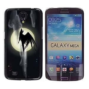 YiPhone /// Prima de resorte delgada de la cubierta del caso de Shell Armor - Full Moon Monster - Samsung Galaxy Mega 6.3 I9200 SGH-i527