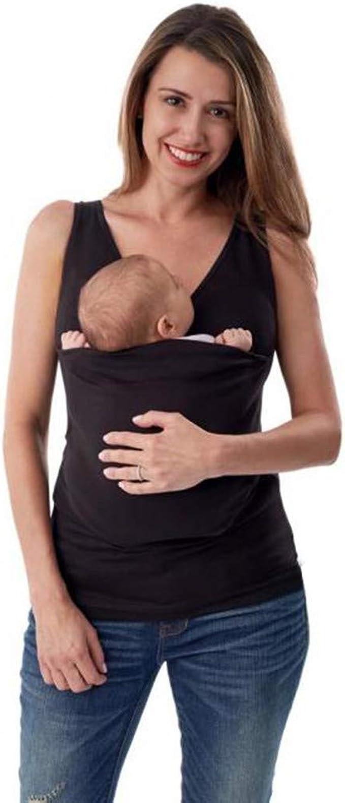 Maternity Kangaroo Baby Carrier Sleeveless Big Pockets Tank Top Multi-function S